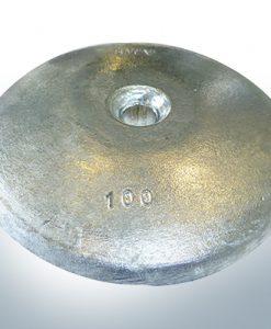 Anodes à disque Ø 100mm | trou de passage (Zinc)