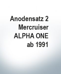 Jeu d'anodes | Mercruiser ALPHA ONE à partir de 1991 (Zink)