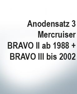 Jeu d'anodes | Mercruiser BRAVO II à partir de 1988   BRAVO III jusqu'à 2002 (Zink)