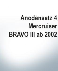 Jeu d'anodes | Mercruiser BRAVO III à partir de 2003 (Zink)
