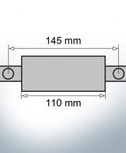 Anodes de bloc et de fuselage carrées L110/145 (Zinc)