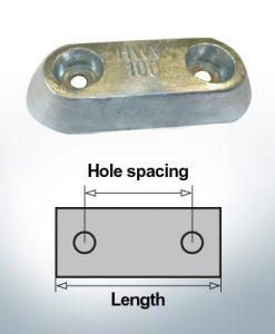 Bloc pour anodes en bloc et de fuselage L150/80 (Zinc)