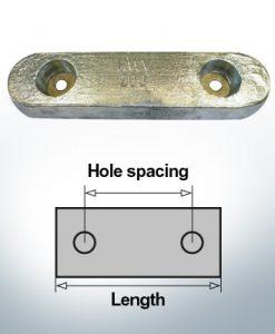 Bloc pour anodes en bloc et de fuselage L235/140 (Zinc)