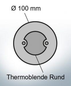 Écran thermique rond Ø100 mm (Zinc)