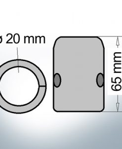 Anode d'arbre à diamètre intérieur métrique 20 mm (Zink)
