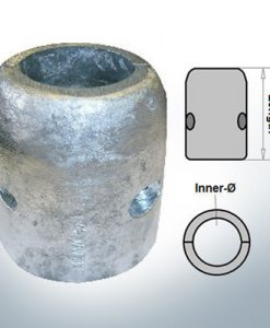 Shaft-Anode with metric inner diameter 75 mm (Zinc)