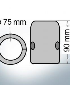 Anode d'arbre à diamètre intérieur métrique 75 mm (Zink)