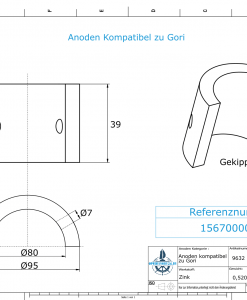 Anodes compatible to Gori | Saildrive 13