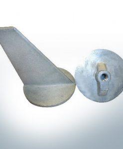 Anodes compatibles avec Mercury   Anode à clapet long 34127 (AlZn5In)  9705AL