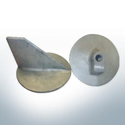 Anodes compatibles avec Mercury   Anode à clapet -40 664-55371 (AlZn5In)   9716AL