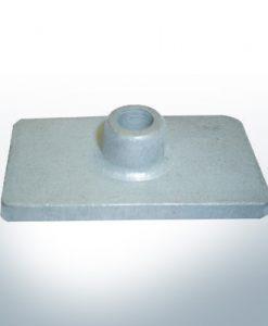 Anodes compatibles avec Mercury   Anode á Plaque 85824 (AlZn5In)   9710AL