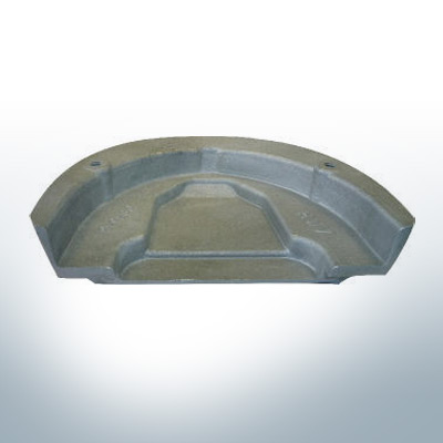 Anodes compatibles avec Mercury | Anode á Plaque Cobra 984513 (AlZn5In) | 9527AL