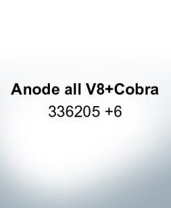Anodes compatible to Mercury   Anode all V8 Cobra 336205 6 (Zinc)   9534