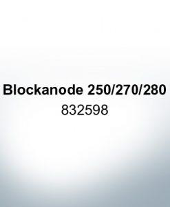 Anodes compatible to Volvo Penta | Block-Anode 250/270/280 832598 (Zinc) | 9207