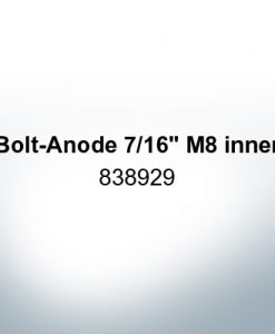 "Anodes compatible to Volvo Penta | Bolt-Anode 7/16"" M8 inner 838929 (Zinc) 