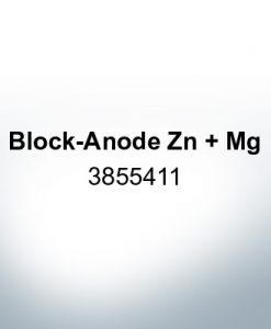 Anodes compatible to Volvo Penta | Block-Anode Zn Mg 3855411 (Zinc) | 9236