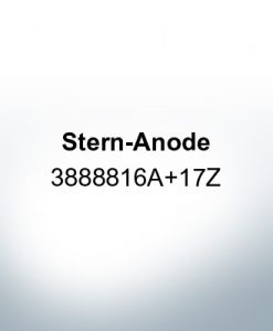 Anodes compatible to Volvo Penta | Stern-Anode 3888816A 17Z (Zinc) | 9239