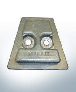 Anodes compatibles avec Volvo Penta | Anode arrière 3888816A 17Z (zinc) | 9239