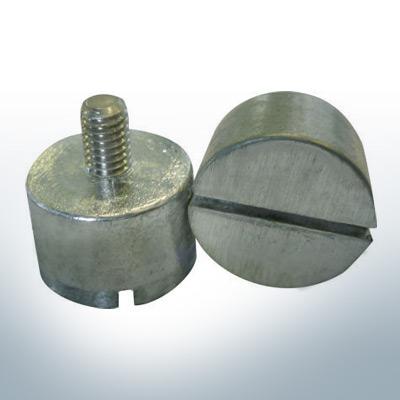 Anodes compatibles avec Volvo Penta | Anodes à ergot 14 x 22 M6 852019 (zinc) | 9240