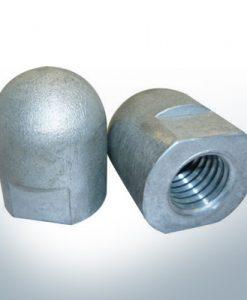 Anodes compatibles avec Volvo Penta | Écrous borgnes M16x1,5 court (zinc) | 9241
