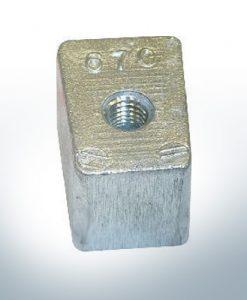 Anodes compatibles avec Yamaha and Yanmar | Anodes de bloc 40-50PS 67C (AlZn5In) | 9549AL