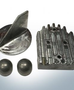 Jeu d'anodes | Mercruiser ALPHA ONE jusqu'à 1990 (zinc) | 9709 9712 9715