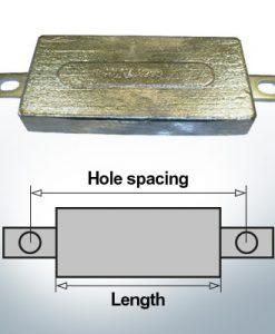 Anodes de bloc et de fuselage carrées L150/185 (Zinc) | 9300