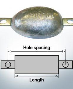 Anodes en bloc et de fuselage ovales L170/195 (Zinc) | 9305