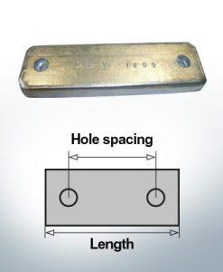 Bloc pour anodes en bloc et de fuselage L150/75 (Zinc) | 9321