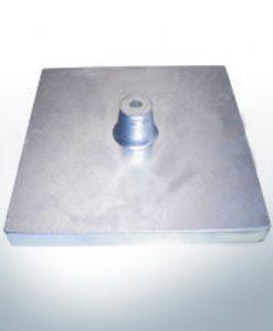 Plaque-traverse pour anode de bloc et de fuselage 200x200x20 avec M10 (Zinc) | 9332