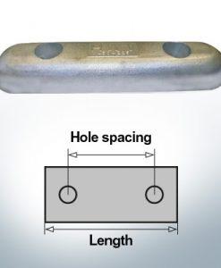 Bloc pour anodes en bloc et de fuselage L450/225 (Zinc) | 9344