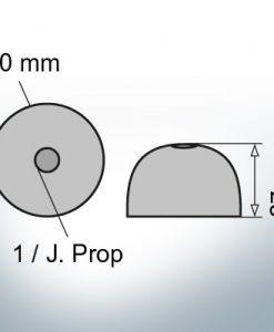 One-Hole-Caps | J. Prop Ø60/H27 (AlZn5In) | 9427AL