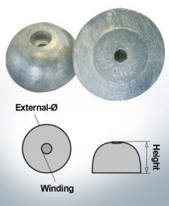 Écrous à un trou | J. Prop Ø60/H27 (AlZn5In) | 9427AL