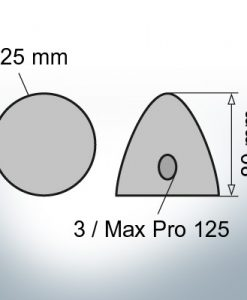 Three-Hole-Caps | Max Prop 125 Ø125/H80 (Zinc) | 9604