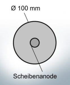 Disk-Anodes Ø 100mm | hole (Zinc) | 9801