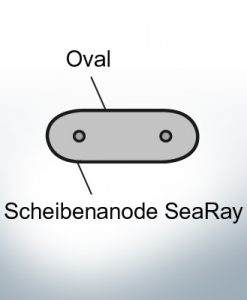 Disk-Anodes SeaRay oval (Zinc) | 9802