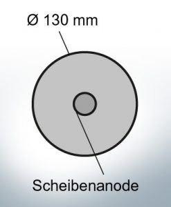 Disk-Anodes Ø 130mm | hole (Zinc) | 9815