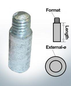 Anodes à ergot 5/16'' 18UNC Ø10/L20 (Zinc) | 9133