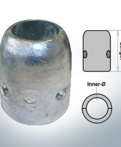 Anode d'arbre à diamètre intérieur métrique 20 mm (AlZn5In) | 9001AL