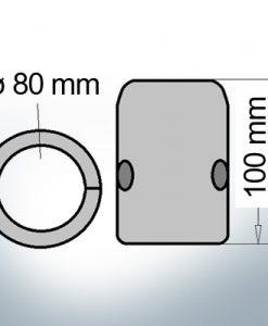 Shaft-Anode with metric inner diameter 80 mm (AlZn5In)   9013AL