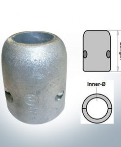 Shaft-Anodes with imperial inner diameter 1'' (AlZn5In)   9016AL