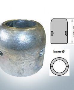 Anodes d'arbre avec diamètre intérieur en pouces 2'' (AlZn5In)   9020AL