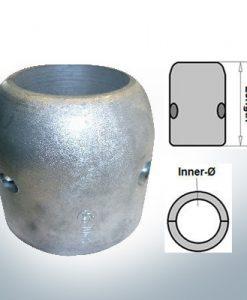 Anodes d'arbre avec diamètre intérieur en pouces 2 1/2'' (AlZn5In)   9022AL