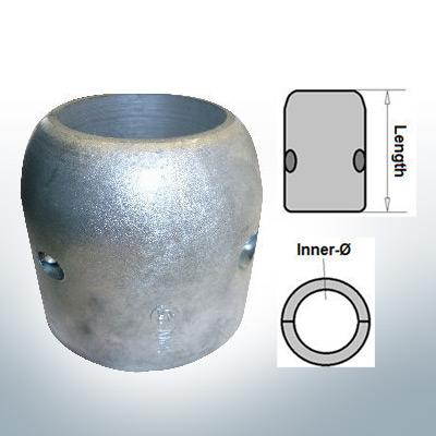 Anodes d'arbre avec diamètre intérieur en pouces 2 1/2'' (Zink) | 9022