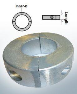 Anodes d'arbre Anneaux avec diamètre intérieur métrique 30 mm (AlZn5In) | 9033AL