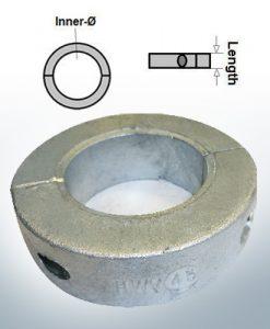 Anodes d'arbre Anneaux avec diamètre intérieur métrique 50 mm (Zink) | 9037