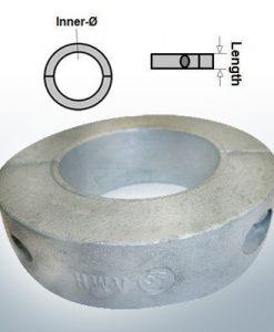 Anodes d'arbre Anneaux avec diamètre intérieur métrique 65 mm (AlZn5In) | 9040AL