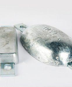 Anodes en bloc et fuselage (Zinc)