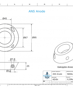 ANS 70 MP-9 (AlZn5In)   9605AL