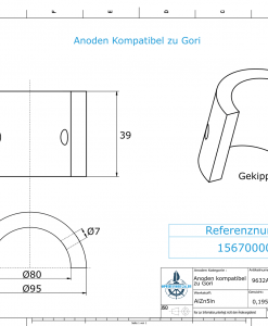 Anodes compatible to Gori | Saildrive 13